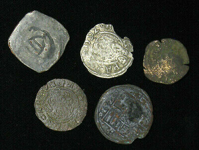 Lot of 5 Medieval Coins 10-16mm