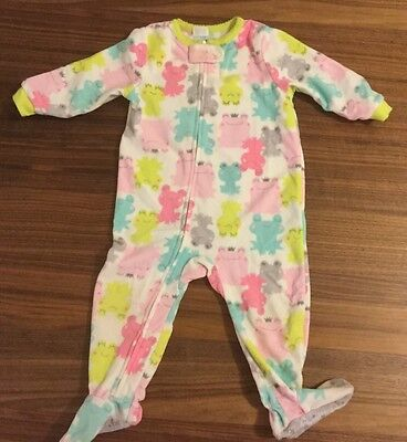 Carters Brand Baby Girls Cute Frog Print Sleeping Suits Size 12Mths