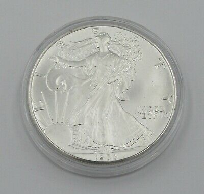 1986 Uncirculated 1 oz Silver American Eagle Coin In Capsule - Item# 8819