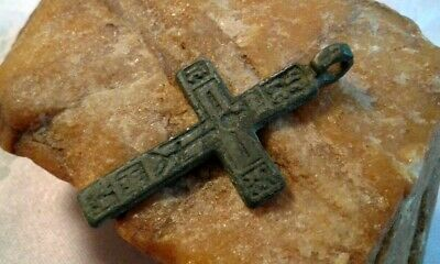 "RARE 17-18th CENT. RUSSIAN NORTH ""OLD BELIEVERS"" ORTHODOX CROSS THE ""CREED"" TEXT"