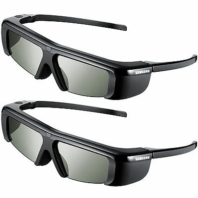 2pc Original Samsung 3D TV Battery Operated Glasses SSG-2100AB/XS,No Retail Pack