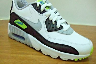 reputable site bebf9 bf43f Nike Air Max 90 Leather Boys Shoes Trainers Uk Size 4 - 5.5 833412 113