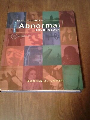 Fundamentals of Abnormal Psychology Second Edition HC by Ronald J. Comer