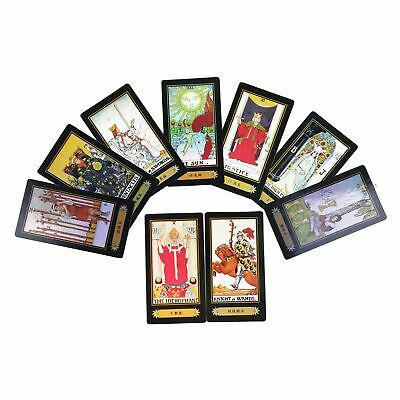 78 Dark Tarot Cards Deck Mysterious Divination Personal Board Game English Lot