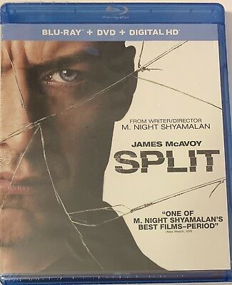 Split (Blu-ray DVD, 2017, 2-Disc Set) James McAvoy Once Glass Unbreakable NEW