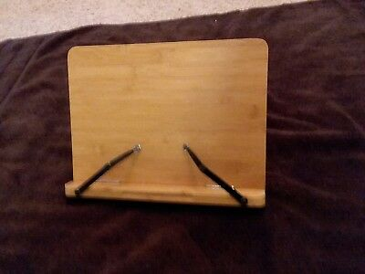 Bamboo Wood Reading Cookbook Stand Holder