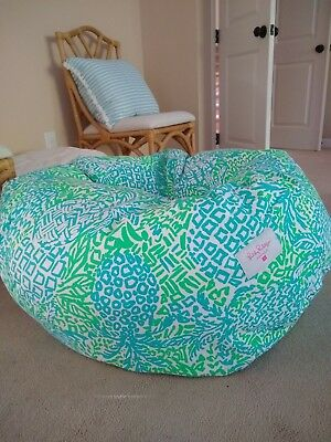 Wondrous Nip Lilly Pulitzer Pottery Barn Pb Teen Bean Bag Cover Large Uwap Interior Chair Design Uwaporg