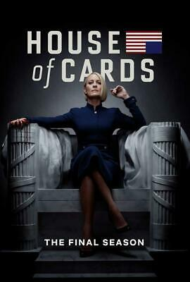 HOUSE OF CARDS 6 (2018): FINAL Political TV Season Series - NEW US Rg1 DVD Set