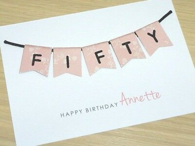 40th 50th 60th Birthday cards - male female - forty fifty sixty - personalised!