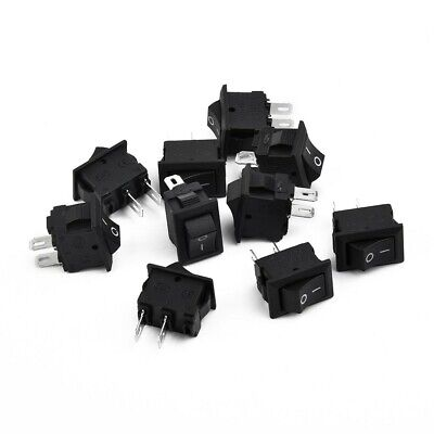 10x Car Truck Boat DC 12V 16A 2-Pin ON/OFF Toggle Mini Rocker Switches Control
