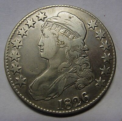 Attractive 1826 Silver Capped Bust Half Dollar Grading XF    G9623