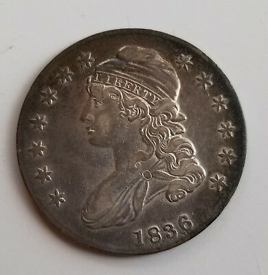 Attractive 1836 Silver Capped Bust Half Dollar Grading Au Nice S112