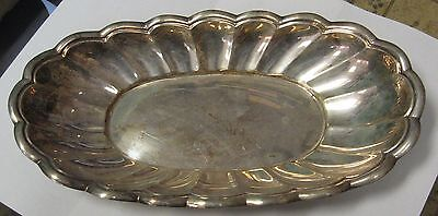 Stunning Antique Fisher Silversmiths .925 Sterling Silver Relish Tray 308 Grams