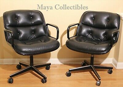 Magnificent Vintage Charles Pollock For Knoll Executive Chairs Black Gamerscity Chair Design For Home Gamerscityorg