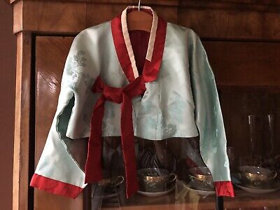 Vintage And Rare Asian Children's Silk Jacquard Jacket