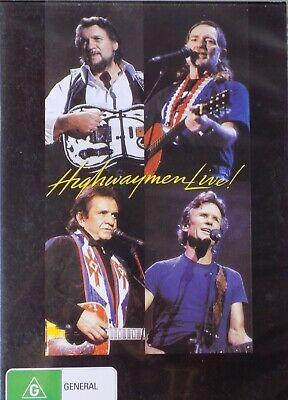THE HIGHWAYMEN - Live DVD AS NEW! Willie Nelson Johnny Cash Waylon Jennings