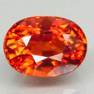 2.1ct.100%Natural Orange Mandarin Spessartite Garnet Unheated AAA Ravishing Gem