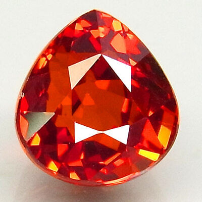 2.53ct.100%Natural Orange Mandarin Spessartite Garnet AAA Unheated Gem Pear Shap