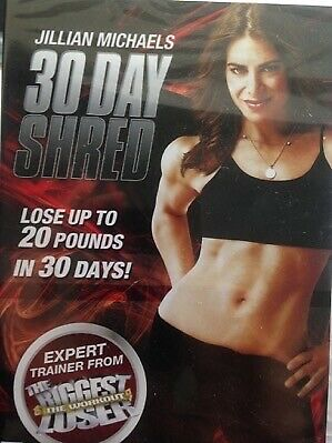 JILLIAN MICHAELS - 30 Day Shred DVD Exc Cond! Biggest Loser Weight Loss RED