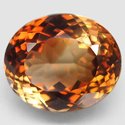 14.38ct.Natural Top Imperial Topaz Unheated Brazil Oval Facet AAA Shimmering Nr.