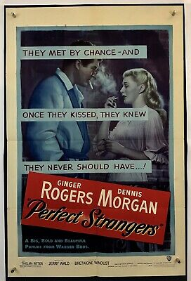 PERFECT STRANGERS Movie Poster (VeryGood+) One Sheet 1950 Ginger Rogers 3393