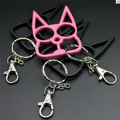 Chic Lovely Cat Key Chain Personal Protection Keychain Keyring Bag Key Pendant