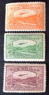 New Guinea 1939 3 X Air Stamps Mint Hinged