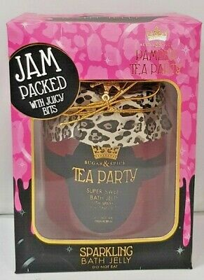 Sugar & Spice Sparkling Super Sweet Bath Jelly Pamper Tea Party Relax Gift K