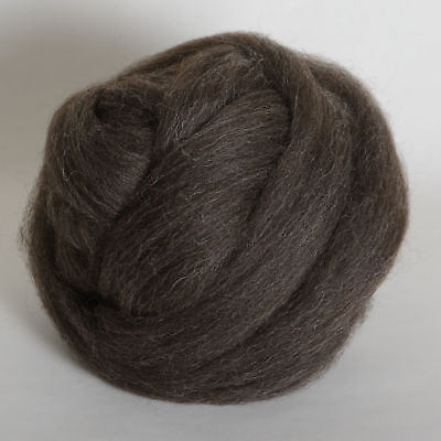 100g*Grey*PROFESSIONALLY COMBED SHETLAND FLEECE* Scottish.pure.wool.tops.roving