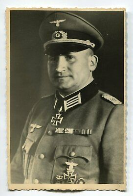 German Wwii Archive Photo: Wehrmacht General With Knight's Cross, Name