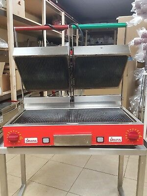Professional Sirman Ceramic Double Ribbed Panini Grill ex Costa Coffee Emsworth