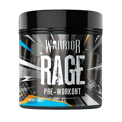 All New Warrior Rage Pre Workout Powder 45 Servings Strong Pump - Energy Burst