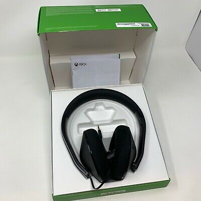 Original Microsoft Xbox One Stereo Headset (Black) Model 1610 1626 Headset Only
