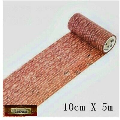M01594 MOREZMORE Brick Wall Adhesive Washi Tape Prop Miniature Furniture 100mm