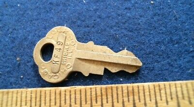 Chicago Lock GUMBALL Machine KEY KF49 antique vintage old penny cent vending
