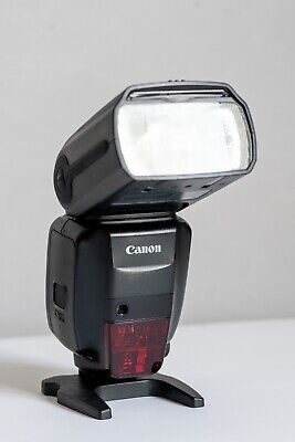 Canon 600EX-RT Shoe Mount Flash.  Good Condition with gel holder & stand