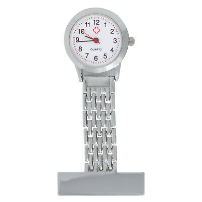 TRIXES Nurses Stainless Steel Quartz Fob Watch In Silver