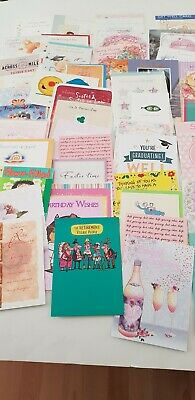 WHOLESALE joblot assorted  GREETINGS & BIRTHDAY CARDS and envelopes  X 50