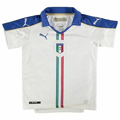 f6e198710b3c Puma Italy Away Jersey 2016 Juniors Boys White Blue Football Soccer Shirt  Top