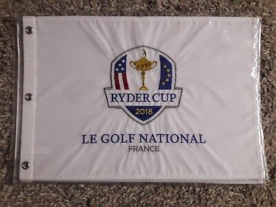 8068c687f8c RYDER CUP 2018 Official Embroidered Golf Pin FLAG Le Golf NATIONAL Paris  FRANCE