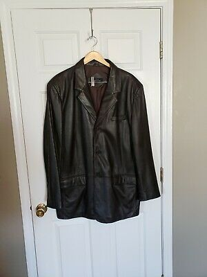 Men's Jones New York leather fully lined Jacket size 44 L New without tags
