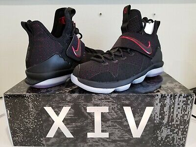 designer fashion 7722a ae320 New NIKE Kids Lebron XIV GS Basketball Shoes size 6Y 859468-004 Black Red  Bred