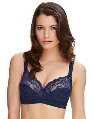 Fantasie Lingerie Jacqueline Lace Non Wired Soft Cup Bra 9402 Navy Blue 32FF
