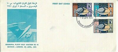 FIRST FLIGHT BAHRAIN TO LONDON 5th APRIL 1970 COVER     MY REF 1735