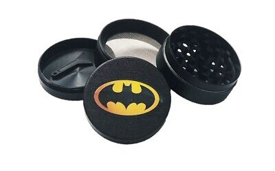 Superhero Batman 4-LAYER METAL HERB SPICE GRINDER PLASTIC SIFTER MAGNETIC TOP