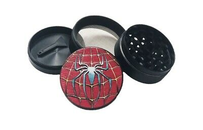 Superhero(Spider-Man) 4-LAYER METAL HERB SPICE GRINDER, PLASTIC SIFTER MAGNETIC