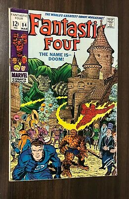 FANTASTIC FOUR #84 -- March 1969 -- Doctor Doom Cover -- VG- Or Better