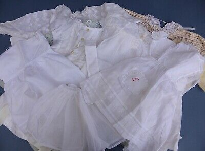 Assorted Antique Vintage Doll & Baby Clothes 1900-1950s