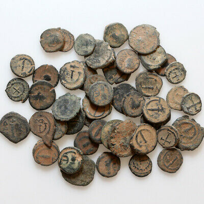 Top Lot Of 50 Late Roman And Byzantine Small Bronze Coins