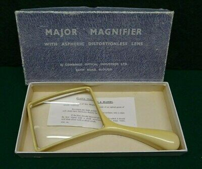 Vintage Major Magnifying Glass  In Box - Early Plastic.